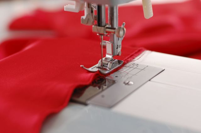 Sewing machine and red cloth