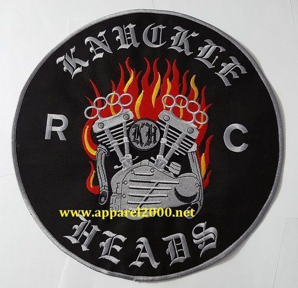 Harley engine with flames patch