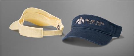 Custom embroidered visors