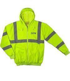 High Visibility Hooded Fleece Jacket