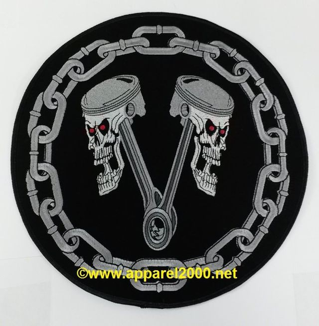 skull and chain emblems
