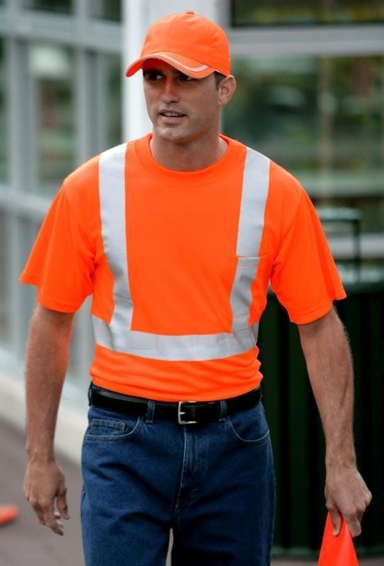 Safety T-shirt with pocket