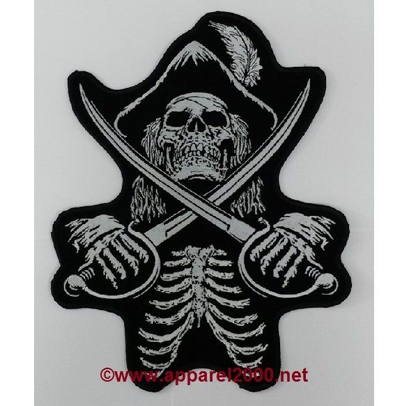Skull with swords patches