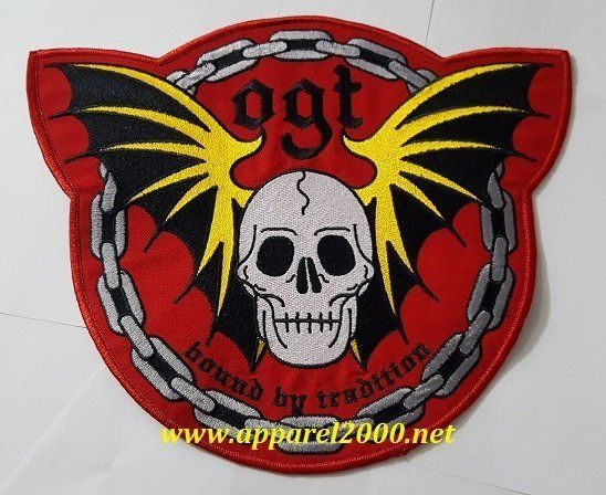 Skull with wings patch