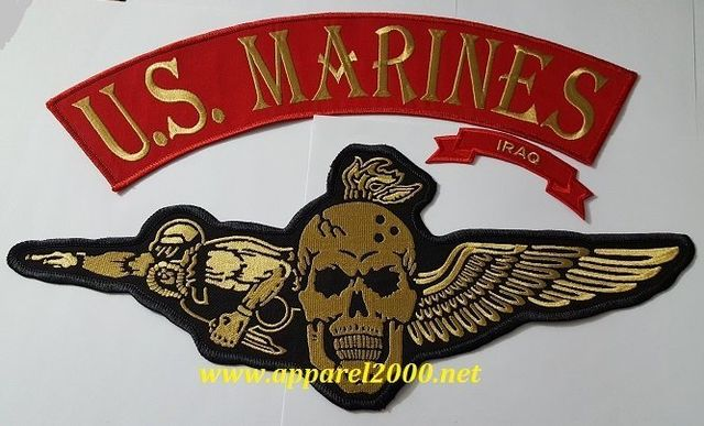 Custom rocker and patch for the US Marines