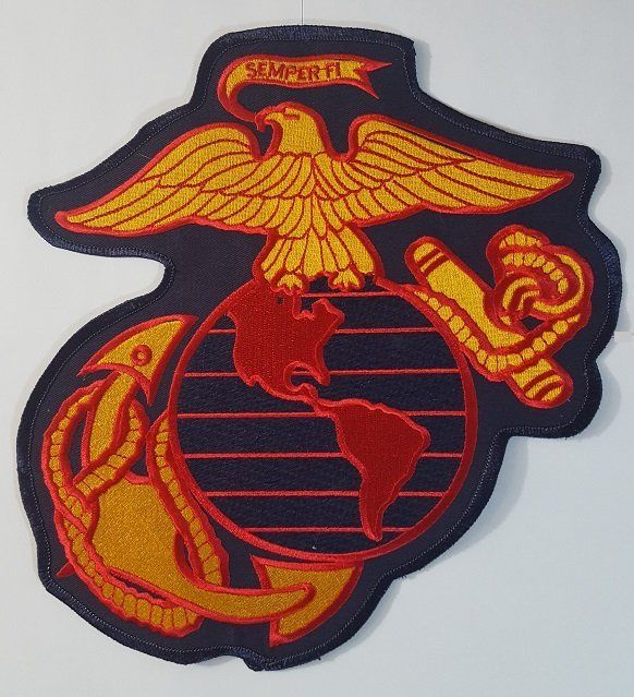Marine Globe Anchor Back Patches