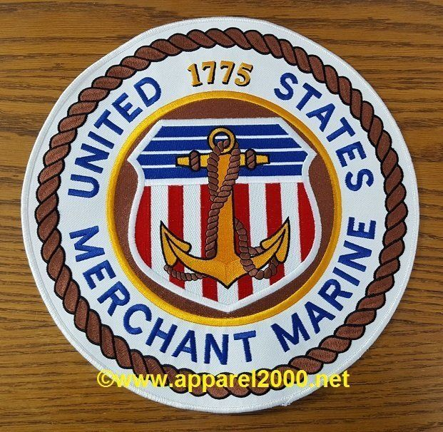 Merchant Marine Back Patches