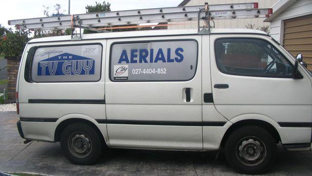 Freeview aerial experts' van in Tauranga