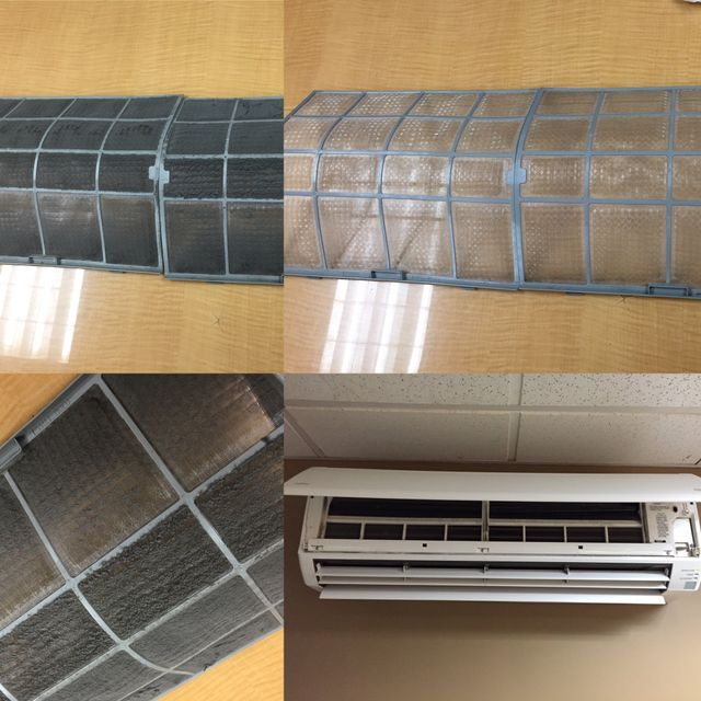 split system hvac unit and filters