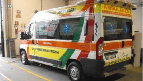 Ambulanza di Classe A per il servizio secondari e soccorso B.L.S-D