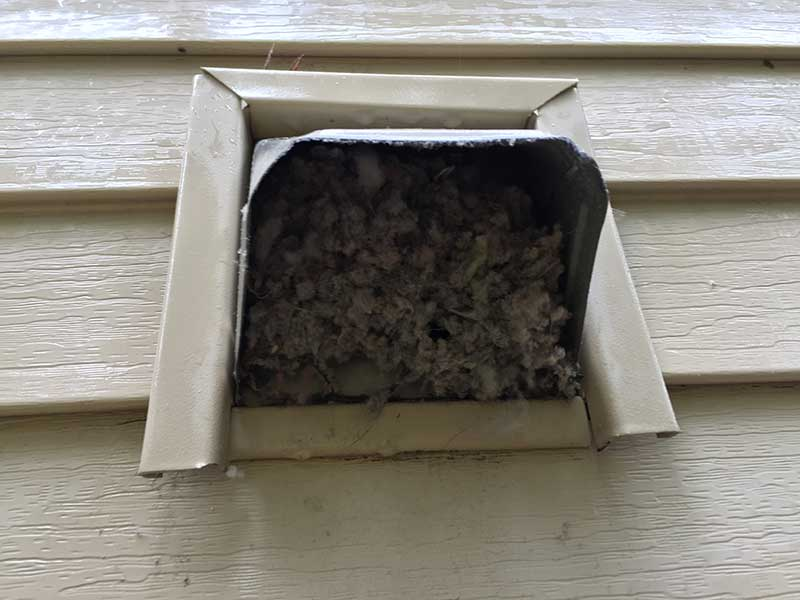 Dryer Vent cleaning customer