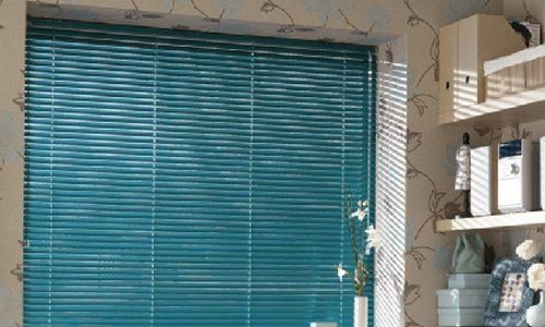 Blue color venetian blinds