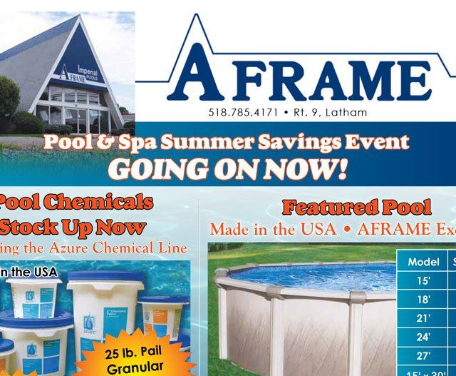 Pool Supplies In Clifton Park Saratoga Springs Ny A Frame Imperial Pools