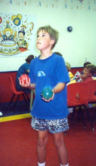 juggling kid