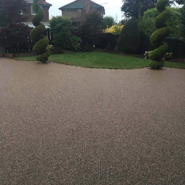 small and large driveways