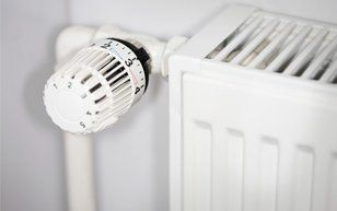 central heating knob