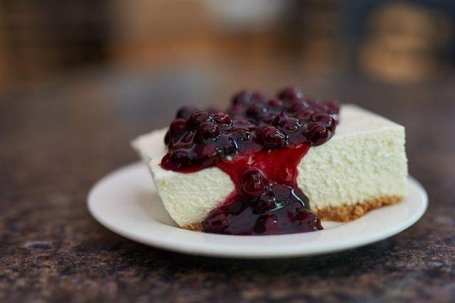 Saskatoon cheesecake photo