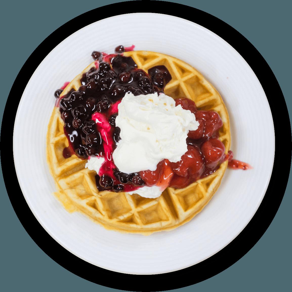 Dessert waffle photo