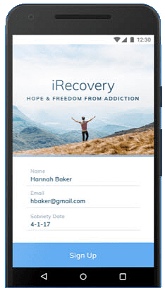 Free iRecovery Addiction Recovery App for Android  & Apple