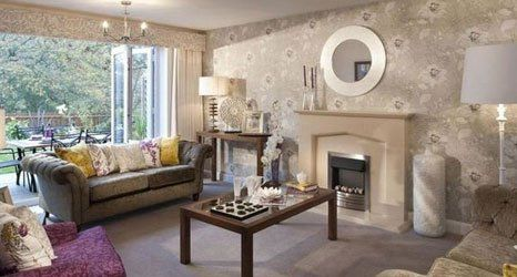 A wallpapered lounge in Norwich