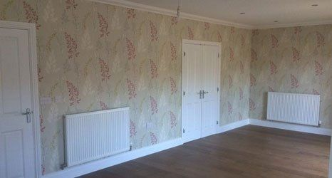 wallpapered feature walls