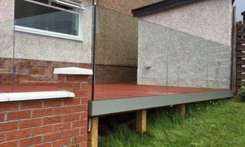 custom frameless glass balustrade