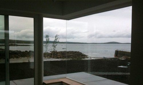 sea view from the glass