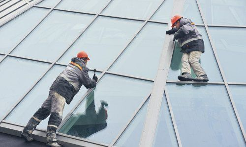 glazing specialists at work