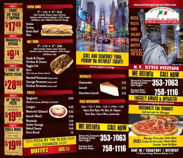 Pizza Specials Greenville Nc