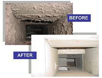 Certified duct cleaning before and after in Gulf Shores, AL