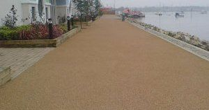resin bonded gravel paving