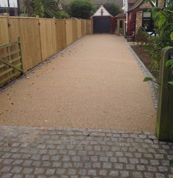 resin bonded garden path
