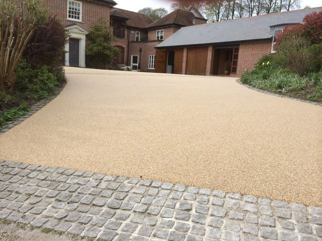 resin bound private car parking area