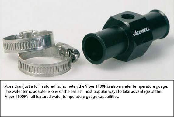 Viper 1100R Digital Tachometer - Water Temp Feature