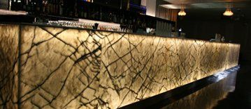 Stunning marble and granite bar