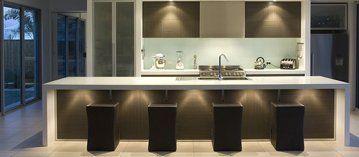 Custom designed marble and granite kitchen