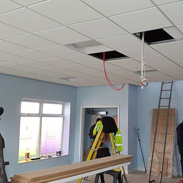 false ceiling installation
