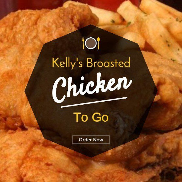 Broasted Chicken available for carry out and in various sizes