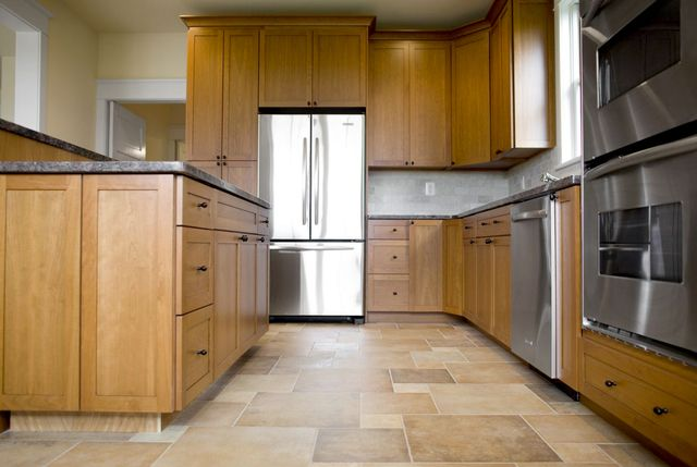 Modern kitchen after remodeling services in Stow, OH