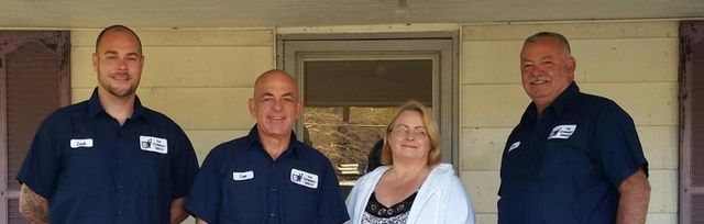 Terry Osborn Owner & Master Sweep, Carrie Jessup Ofc Manager & Lee Knight Lead Sweep