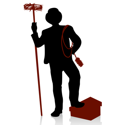 graphic of a chimney sweeper stepping on a chimney