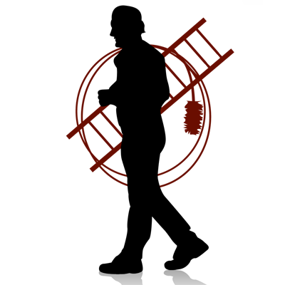 graphic of a chimney sweeper carrying a ladder