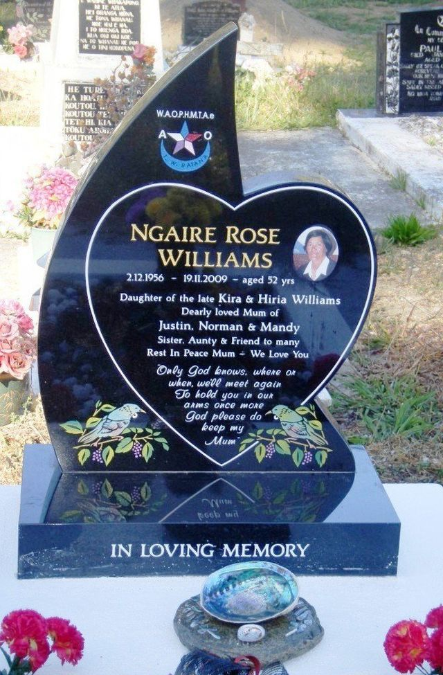 One of the gravestones in Auckland