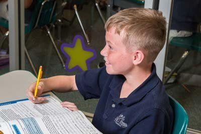 Boy in StarChild Academy's Private Elementary School Program