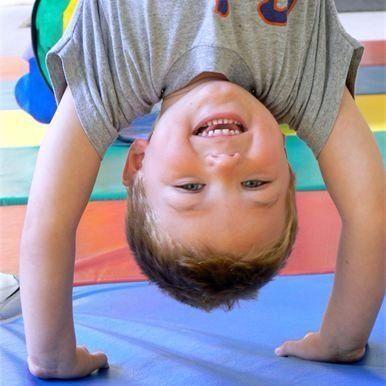 Boy in Gym Buddies Gymnastics Class