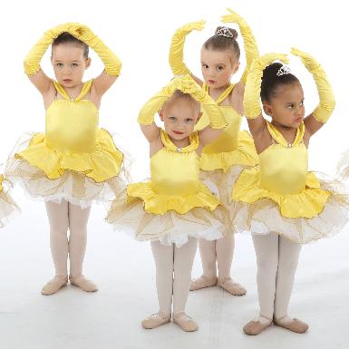 Four Ballet Dancers in Duvall Dance Academy Class