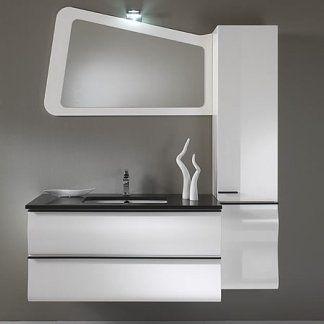 un mobile da lavabo di color bianco