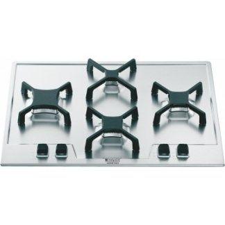 piano cottura in acciaio con quattro fuochi
