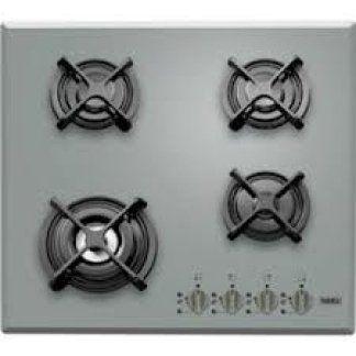 piano cottura di color grigio con quattro fuochi