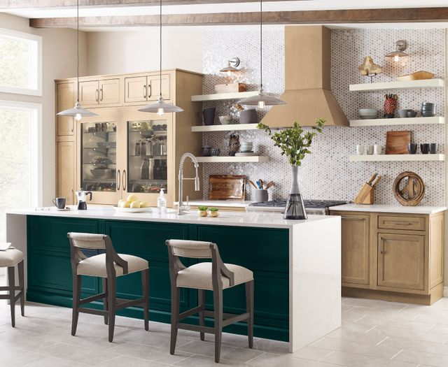 THREE FINISHES IN KEMPER EMERGE KITCHEN